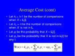 average cost cont