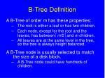 b tree definition