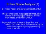 b tree space analysis 1