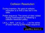 collision resolution