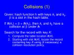 collisions 1