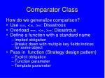 comparator class