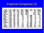 empirical comparison 2