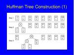 huffman tree construction 1