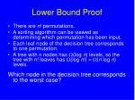 lower bound proof