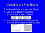 managing the free blocks