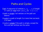 paths and cycles