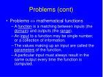 problems cont
