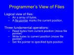 programmer s view of files