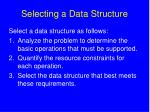 selecting a data structure
