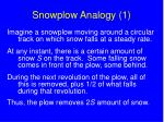 snowplow analogy 1