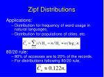 zipf distributions