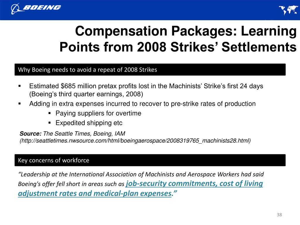Compensation Packages: Learning Points from 2008 Strikes' Settlements