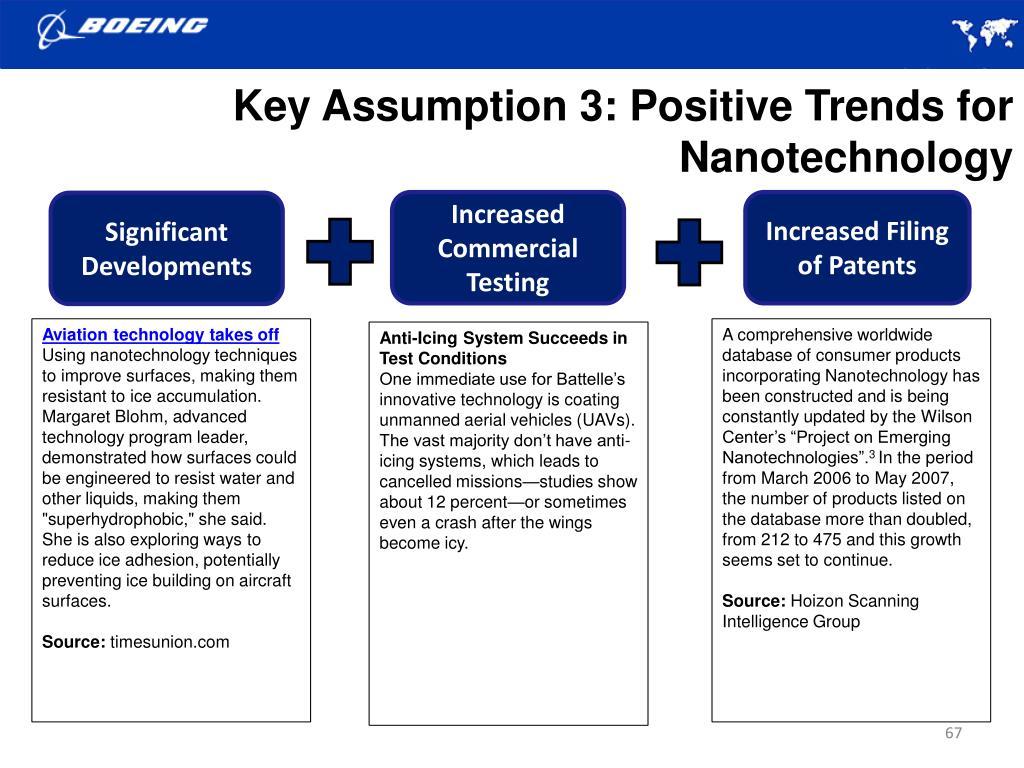 Key Assumption 3: Positive Trends for Nanotechnology
