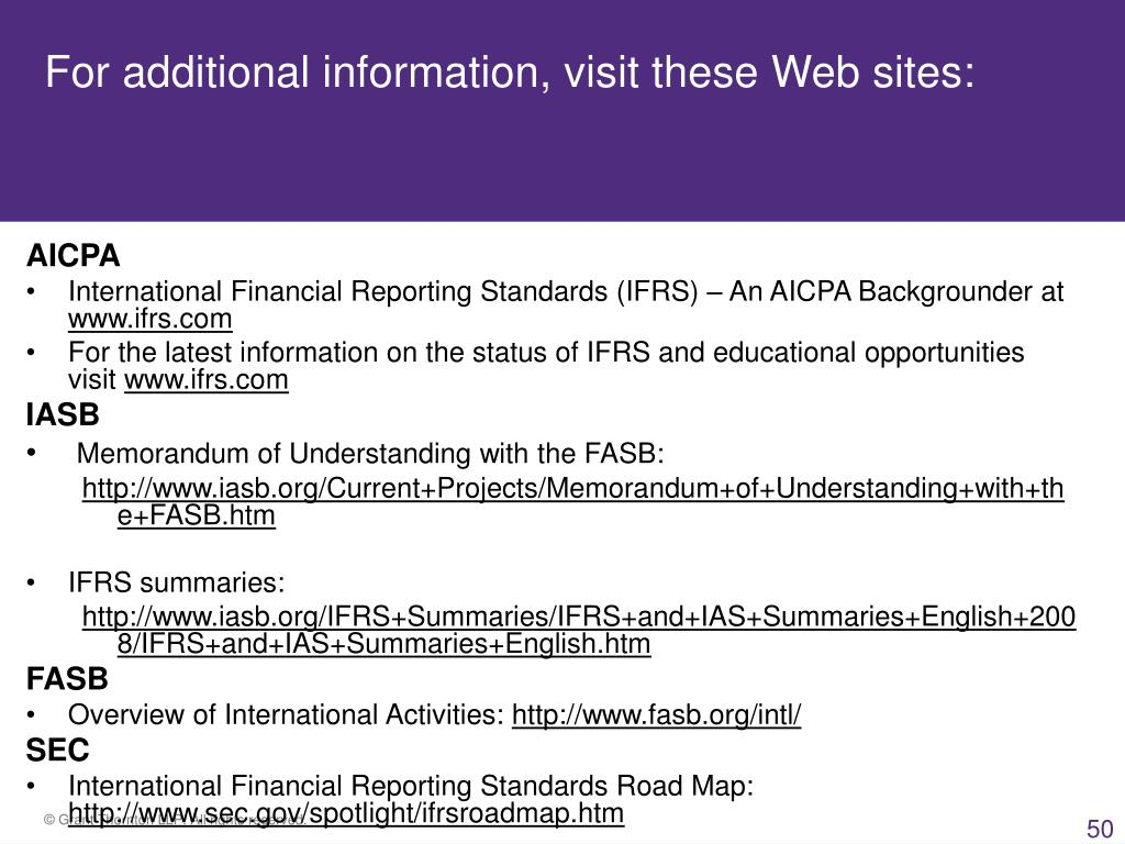 For additional information, visit these Web sites: