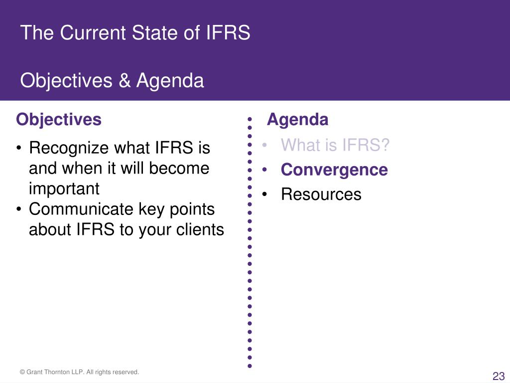 The Current State of IFRS