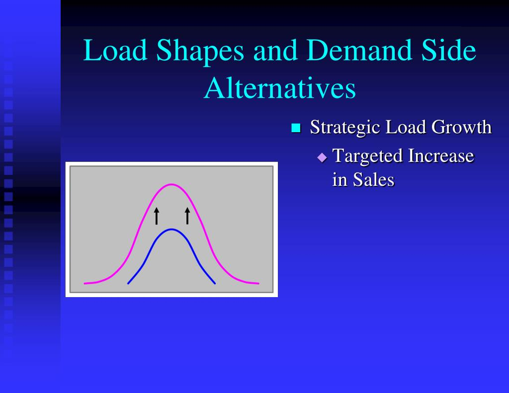 Load Shapes and Demand Side Alternatives