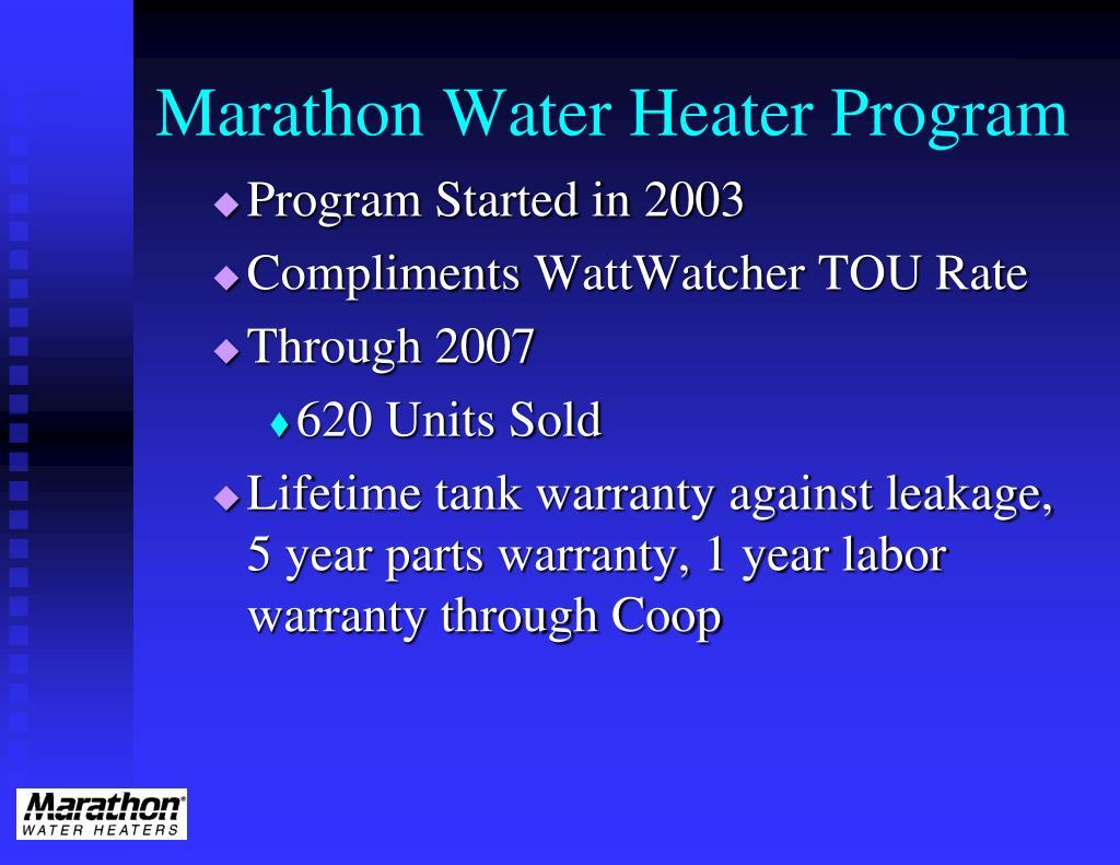 Marathon Water Heater Program