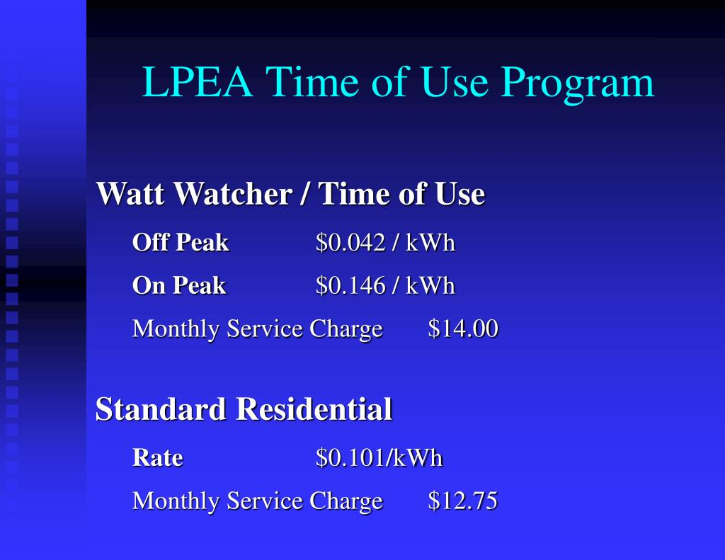 LPEA Time of Use Program