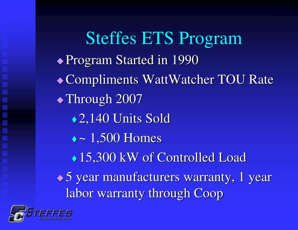 Steffes ETS Program