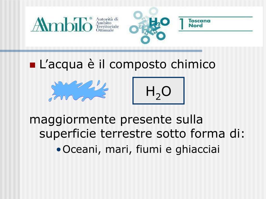 L'acqua è il composto chimico