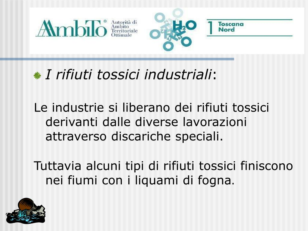 I rifiuti tossici industriali
