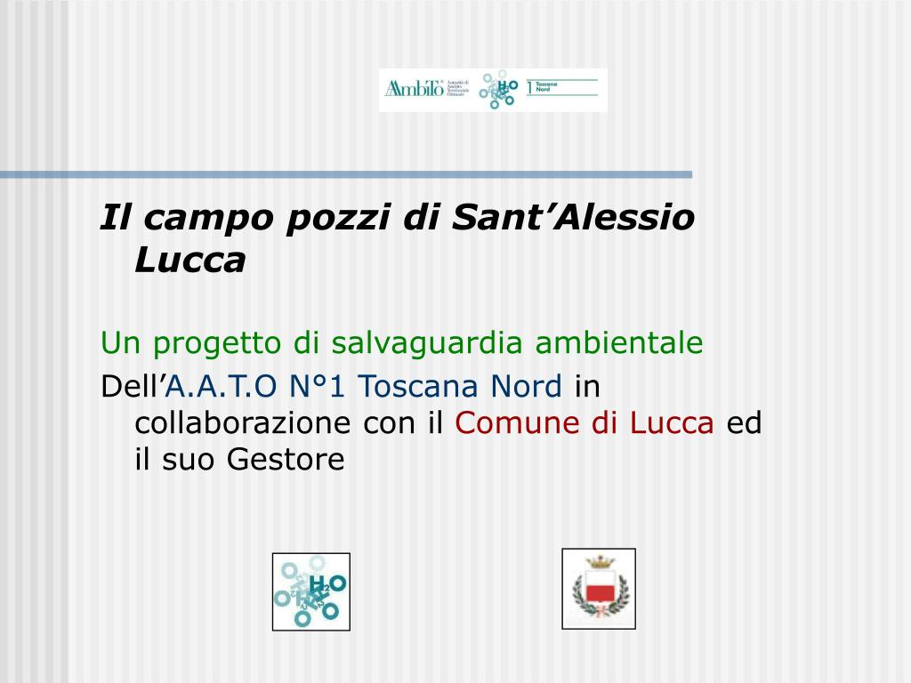 Il campo pozzi di Sant'Alessio Lucca