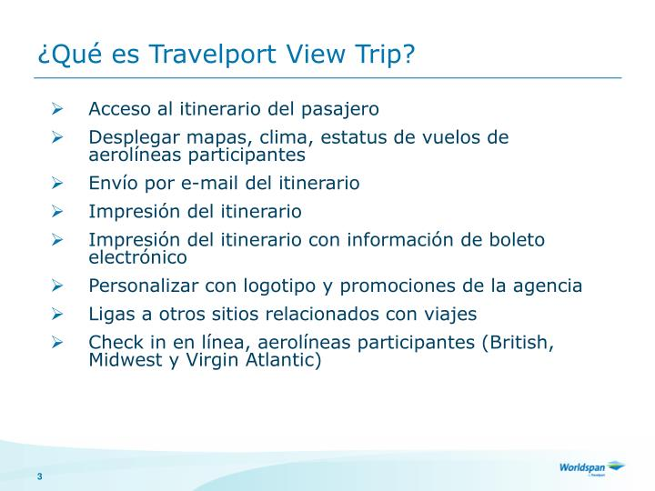 Qu es travelport view trip