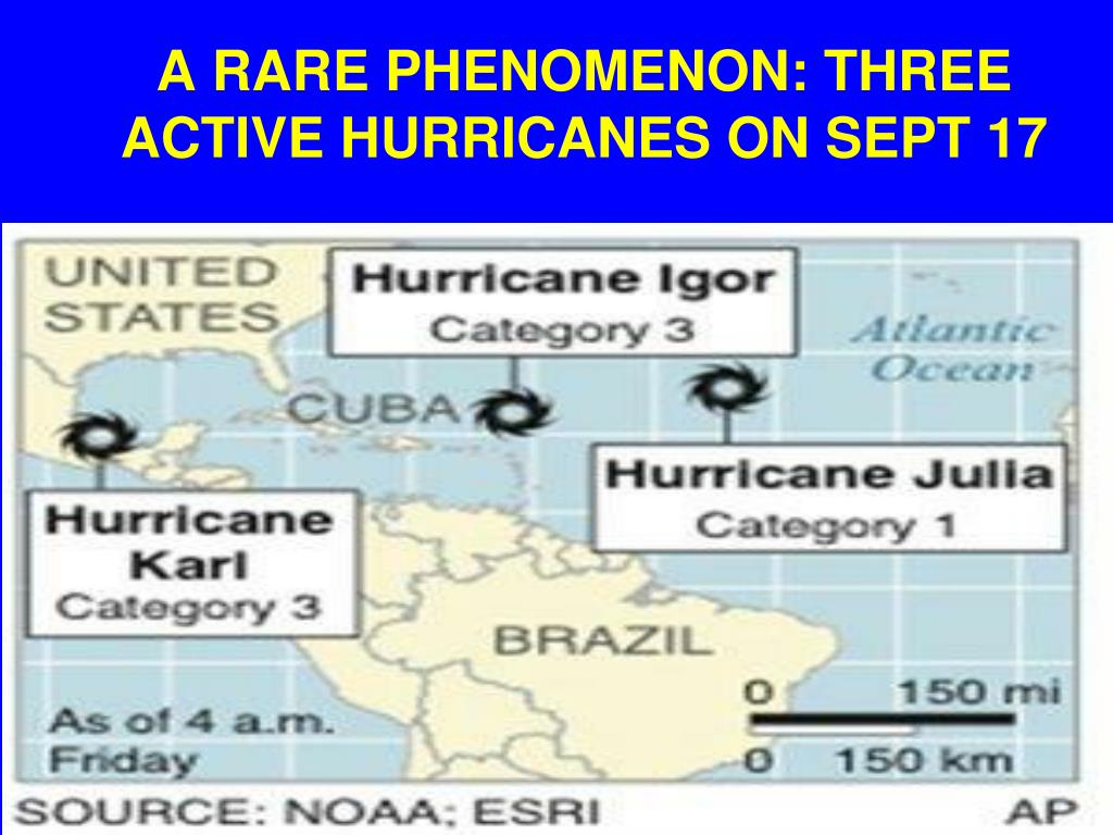 A RARE PHENOMENON: THREE ACTIVE HURRICANES ON SEPT 17