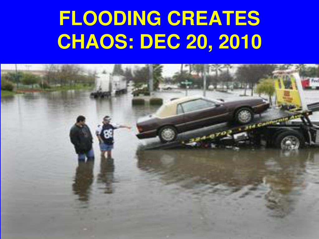 FLOODING CREATES CHAOS: DEC 20, 2010