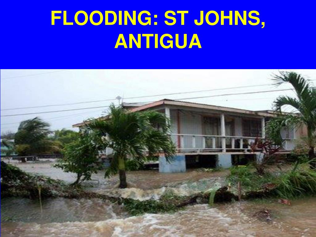 FLOODING: ST JOHNS, ANTIGUA