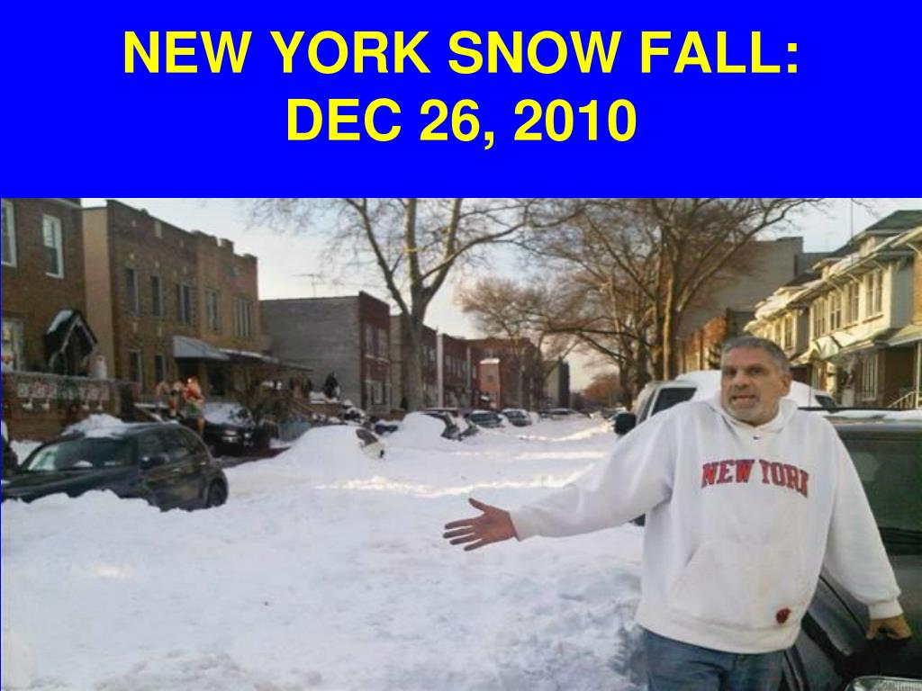 NEW YORK SNOW FALL: DEC 26, 2010
