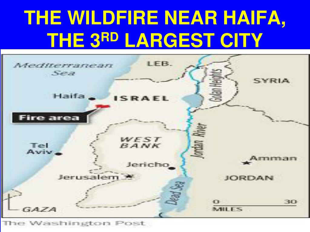 THE WILDFIRE NEAR HAIFA,  THE 3