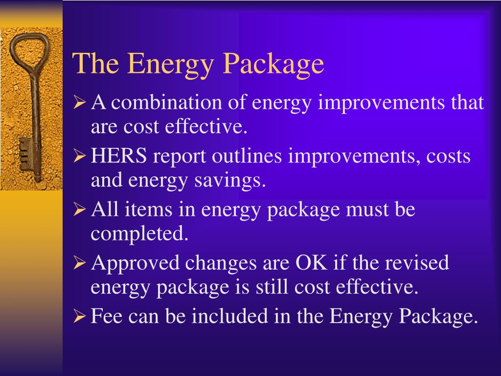 The Energy Package