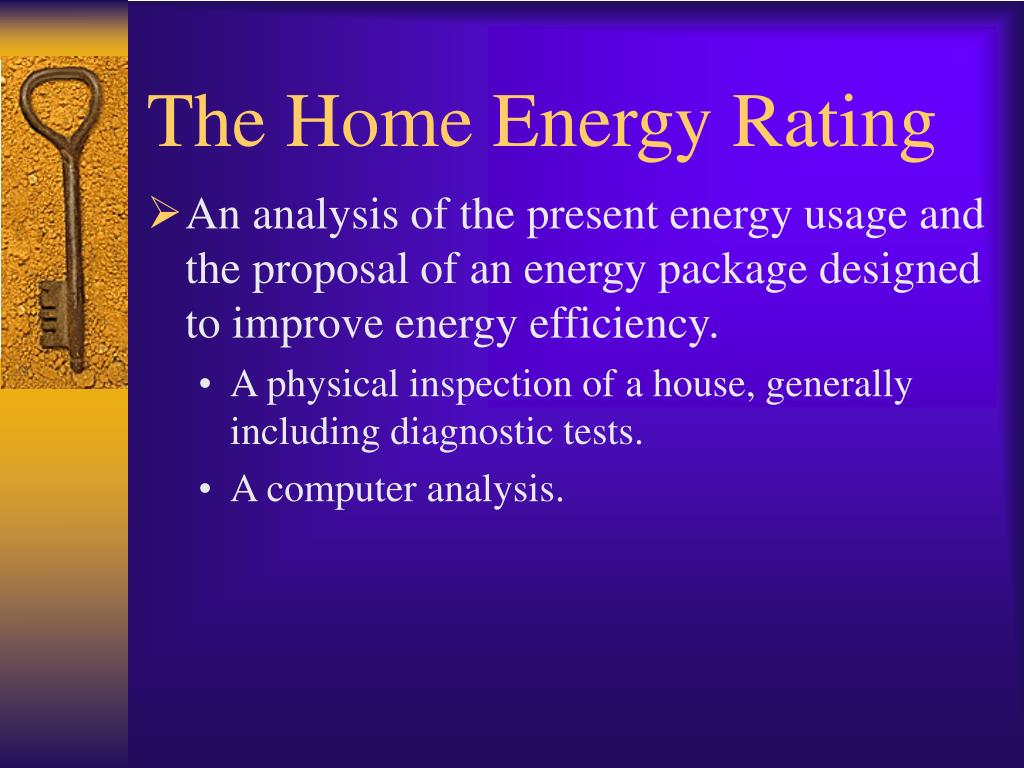 The Home Energy Rating