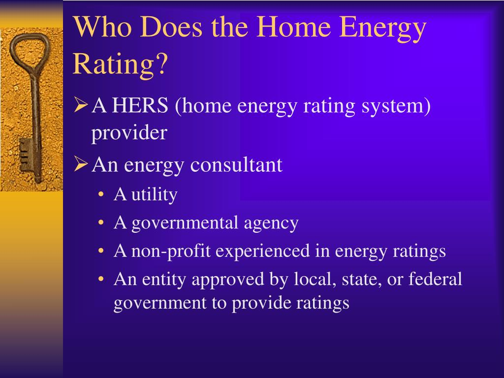 Who Does the Home Energy Rating?