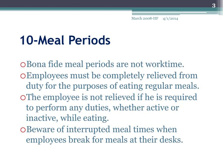 10 meal periods