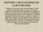 historia y aplicaciones en la actualidad
