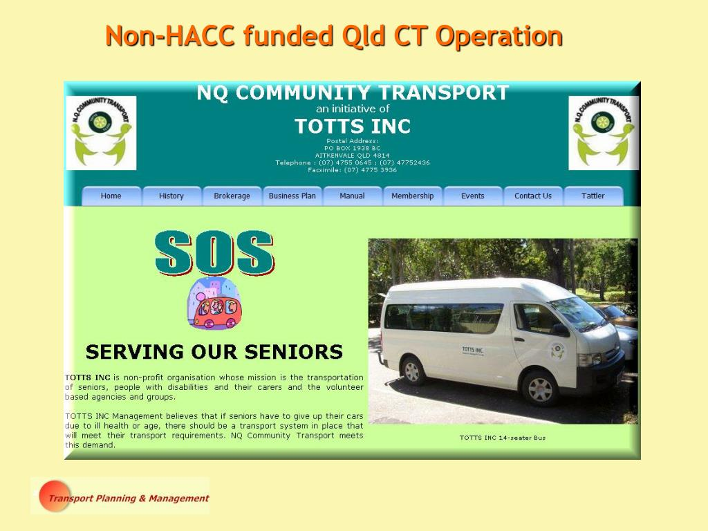 Non-HACC funded Qld CT Operation