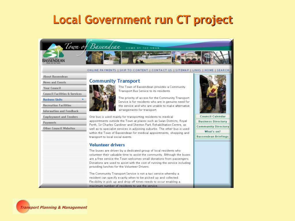 Local Government run CT project
