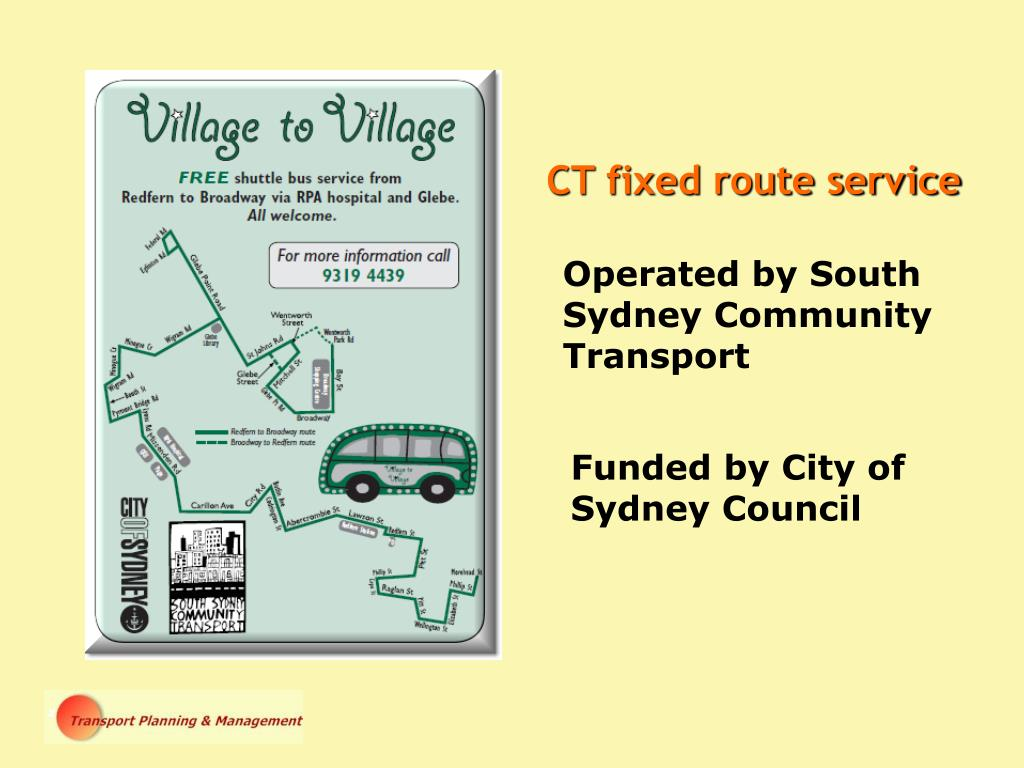 CT fixed route service