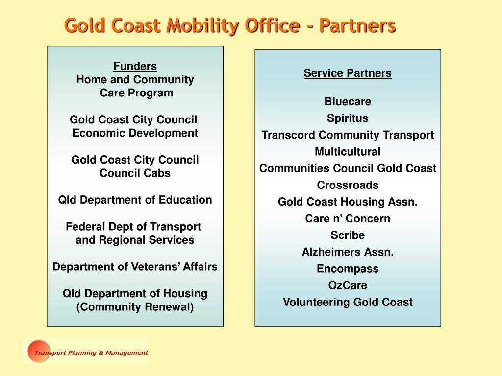 Gold Coast Mobility Office - Partners