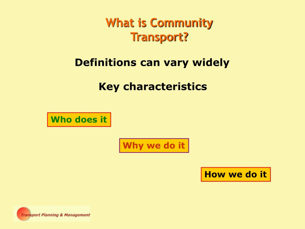 What is Community Transport?