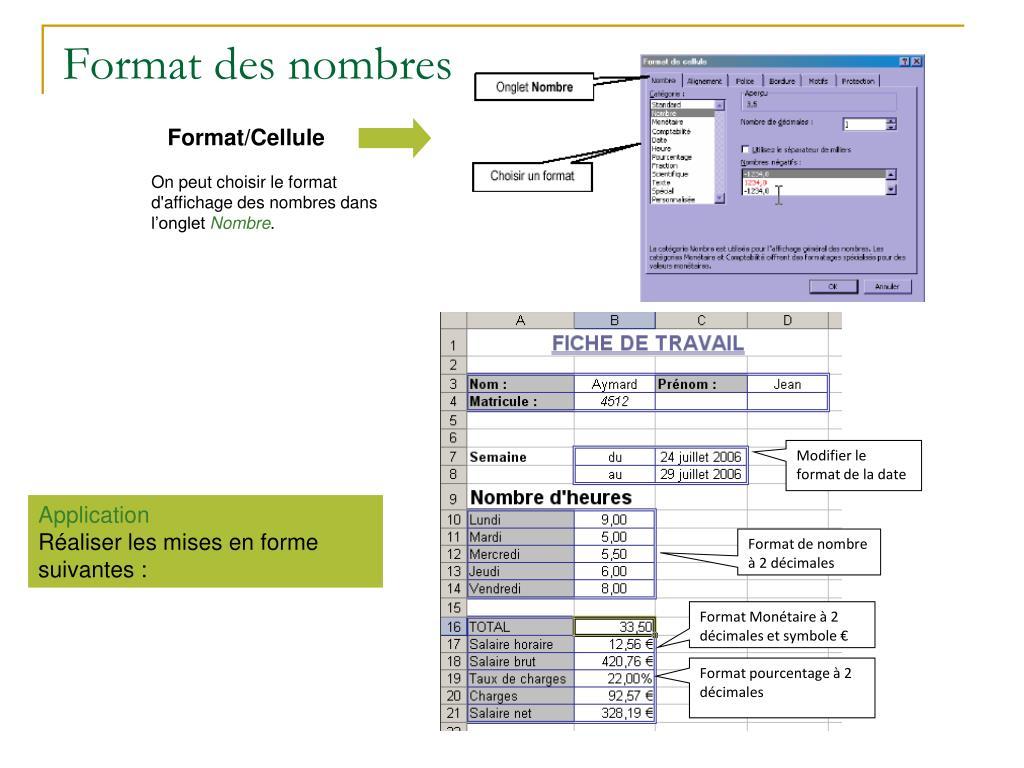Format des nombres