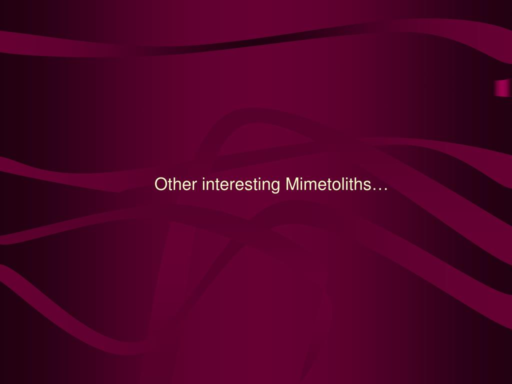 Other interesting Mimetoliths…