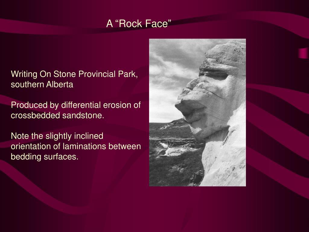 """A """"Rock Face"""""""