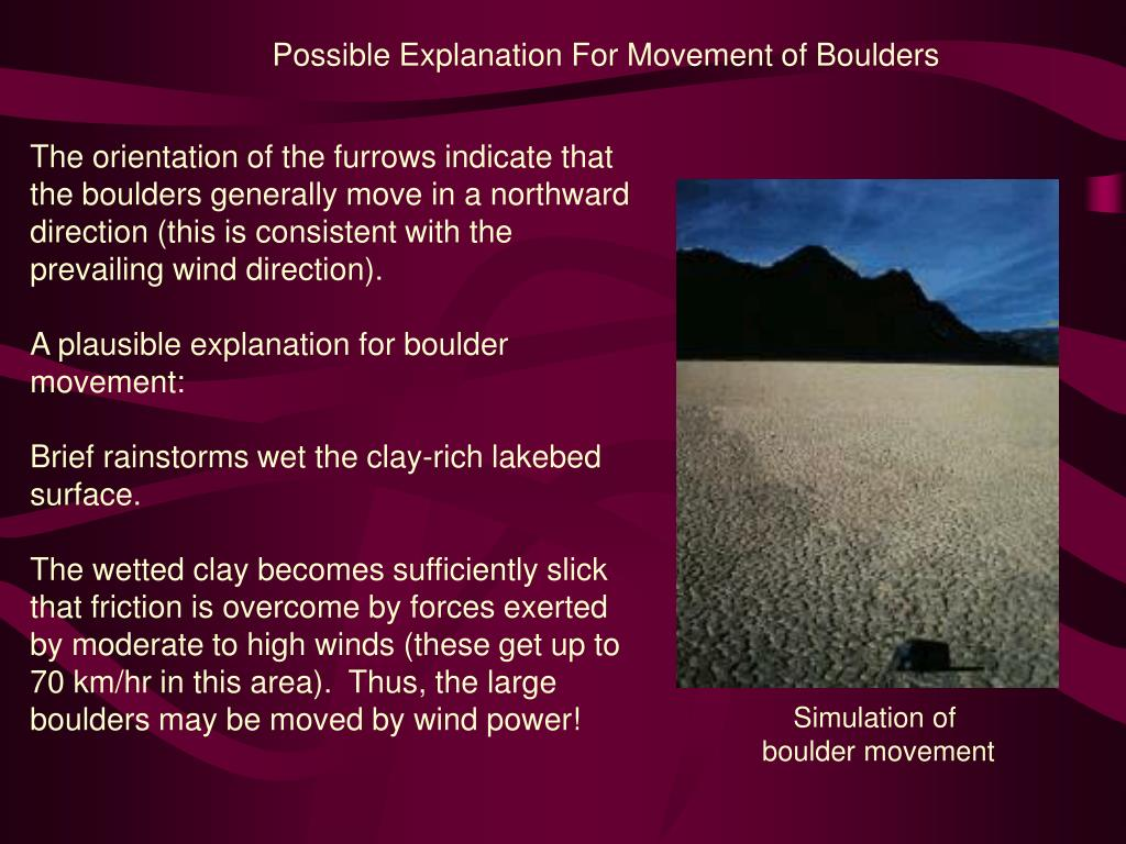 Possible Explanation For Movement of Boulders