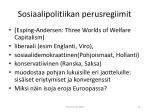 sosiaalipolitiikan perusregiimit