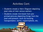 activities cont