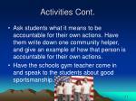 activities cont26
